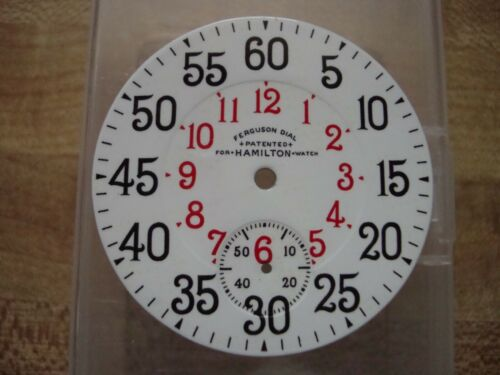 hamilton 16s ferguson pocket watch dial 16s d. sunk ferguson dial