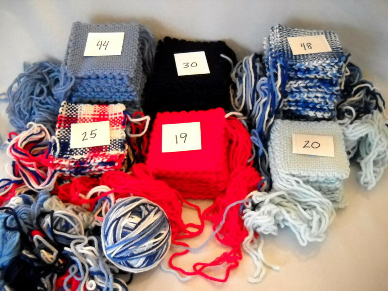 Huge Lot 185 Weave-It Granny Afghan Squares ~Red/White/Blue ~Patriotic