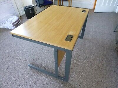 small office desk. metal frame. laminate top
