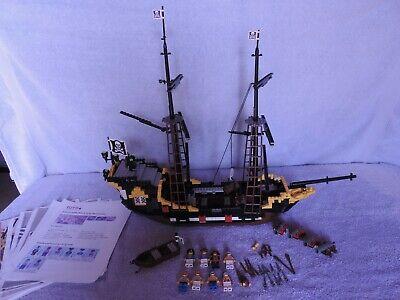 Lego 6285 set Black Seas Baracuda 1989 vintage used (no sail,box,ropes)