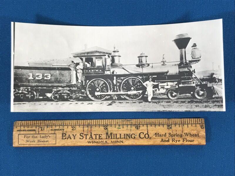 Chicago & North Western Railway Locomotive No. 133 Antique Photo
