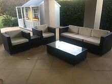 5 piece wicker outdoor furniture set Lane Cove Lane Cove Area Preview