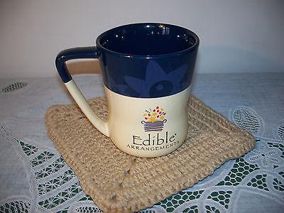 Edible Arrangements Large Huge Coffee Mug Cup 16 Oz Flowers Daisy Brown