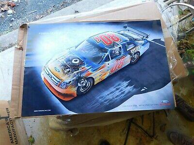 2008 FORD FUSION NASCAR NEXTEL CUP SERIES #08 CUTAWAY CAR PROMO POSTER 24x36 IN segunda mano  Embacar hacia Argentina