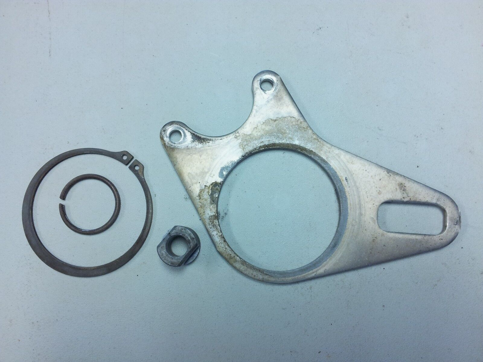 2004 PREDATOR 500 OEM REAR BRAKE STAY HOLDER MOUNT ASSY W/ CIRCLIP BUSHING
