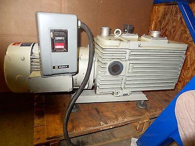 Leybold D90ac Vacuum Pump W Ge 5k182fx20491c Motor 3 Hp 1765 Rpm 60 Hz
