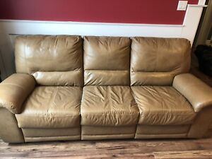 Elran leather electric couch