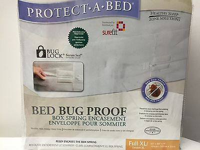 NEW, BED BUG PROOF- BOX SPRING ENCASEMENT- FULL XL / DOUBLE