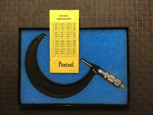 CENTRAL TOOLS   6091  CONVENTIONAL 4-5 INCH MICROMETER  USA