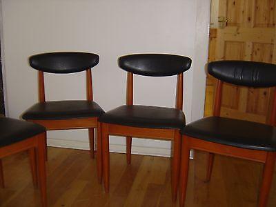 4 Vintage Retro Schreiber Black Vinyl Dining Chairs