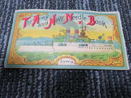 1896 Battleship Iowa Needle Book Sewing Spanish American War Era Japan S528