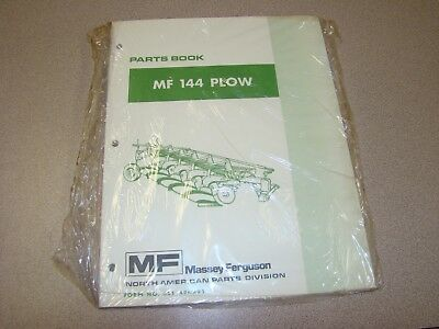 Original Massey Ferguson Mf 144 Plow Parts Book