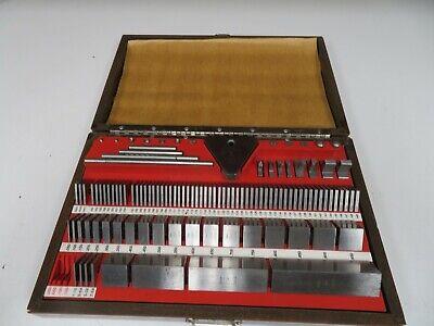 Starrett Webber Inches Gage Block Set Ss81ax - Steel Square Grade 2 - Oh8