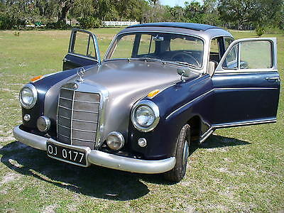 1956 MERCEDES BENZ 220S RARE EURO LOW MILAGE WEBASTO TOP