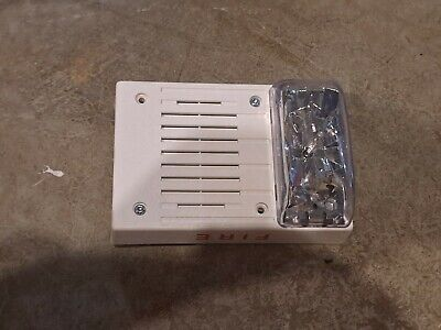 Simplex Fire Alarm Horn Strobe Model 4906-9130 White Ceiling Mount