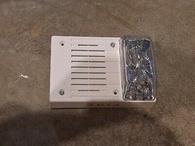 Simplex Fire Alarm Horn Strobe Model 4906-9130 White Ceiling Mount