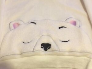 La Vie en Rose XS Polar Bear Fleece PJs