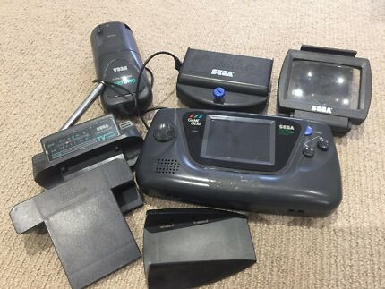 Sega Game gear console and accessories