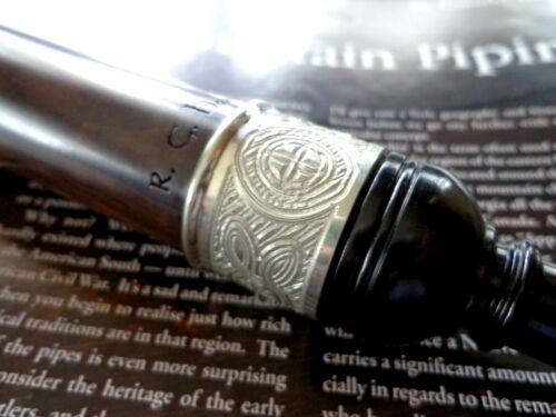 Blackwood Bagpipe Practice Chanter of Hardie, Standard size, Engraved