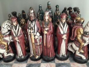 Chess set custom painted..