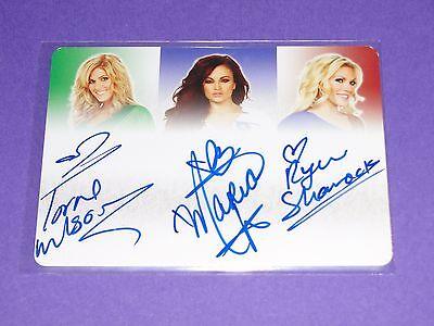2012 Benchwarmer Soccer WWE Auto TORRIE WILSON Maria Kanellis RYAN SHAMROCK 1/1