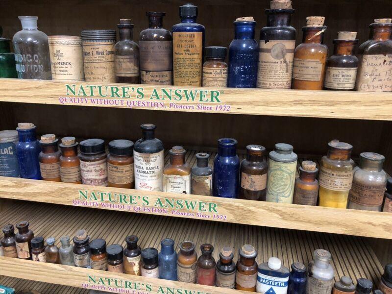 Antique Pharmaceutical Bottle Lot Drug Store Pharmacy Medicine Bargain Priced 50