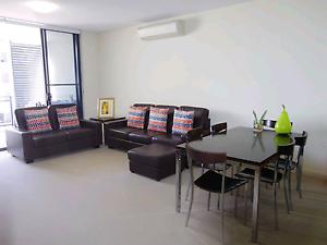 Real Leather 3+2 Seats Sofa & Ottoman + 6 Seats Dinning Set &More Newington Auburn Area Preview