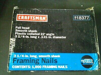 Craftsman 918377 Framing Nails 3 14 22 Degree New Box - O 38