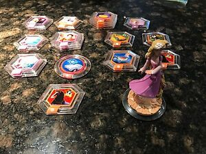 Disney infinity discs and rapunzel figure