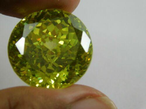 21.35Cts. Natural Round Cut Cambodian Green Zircon Loose Gemstone 166