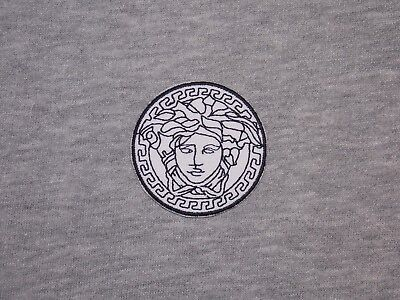 White Rare 2in x 2in Embroidered Iron On Patch Emblem For Decoration