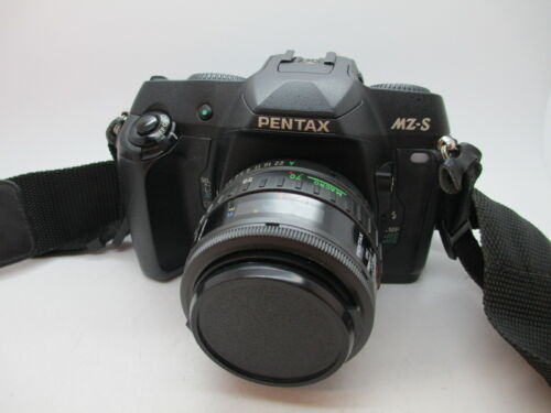 Near Mint PENTAX MZ-S 35MM SLR FILM camera black body w/ lens