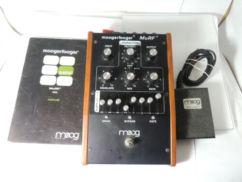 Moog Murf MF-105 Modulation Filter FX Pedal Moogerfooger w/Footswitch & Manual
