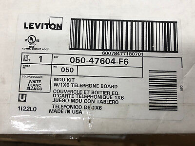(Leviton MDU Kit w/ 1x6 Telephone Expansion Board 050-47604-F6 media enclosure)