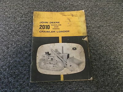John Deere 2010 Crawler Loader Owner Operator Manual Omt14694t