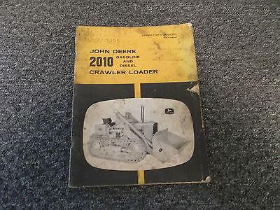 John Deere 2010 Crawler Loader Owner Operator Manual Omt14694t