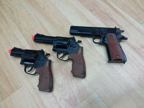 Spring action bb gun short barrel revolver shell pistol police costume airsoft