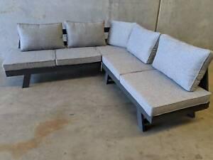 Venetian 3 & 2 Seater set with Cement Cushions Loganholme Logan Area Preview