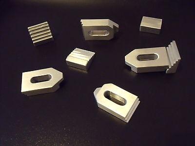 4 Aluminium Spannpratzen mit Treppensteinen ,Mini M5-M6, Spanneisen, CNC, Fräsen