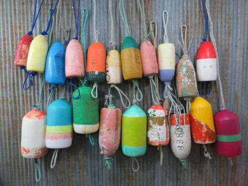 20 Authentic Used Dungeness Crab Lobster Pot Buoys Bouys Floats (443A)