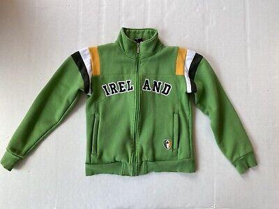 Retro Irish Ireland zipper front sweatshirt boys sz 10/12 Irish Boy Sweatshirt
