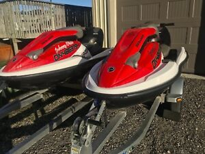 Pair of 2005 Sea Doo 3D's with Aluminum Trailer