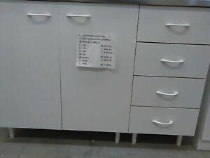 Mobile sottolavello per cucina geromin bianco cm 120 con - Mobile con cassetti per cucina ...