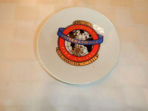 Vintage Assoc Of International Fire Chiefs Plate, San Francisco 1967, EFCCO