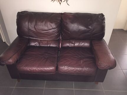 Matching leather 3 + 2 seater and armchair all going cheap