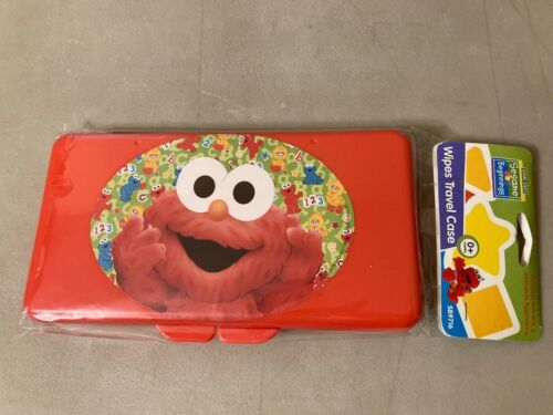 New Baby Wipes Container Case Diaper or Travel Bag Keeps Wipes Moist Elmo Red