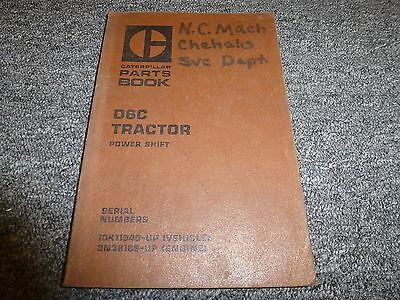 Caterpillar Cat D6c Powershift Crawler Tractor Dozer Parts Catalog Manual Book