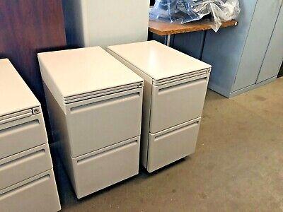 15w X 23d Mobile Filefile Pedestal By Haworth Office Furniture W Lock Key