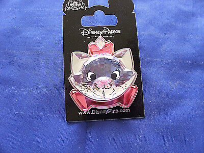 Disney* ARISTOCATS MARIE - CRYSTAL LOOK HEAD * New on Card Character Trading Pin