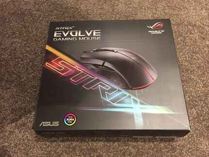 ASUS ROG Strix Evolve wired Gaming Mouse + Sheath Mat